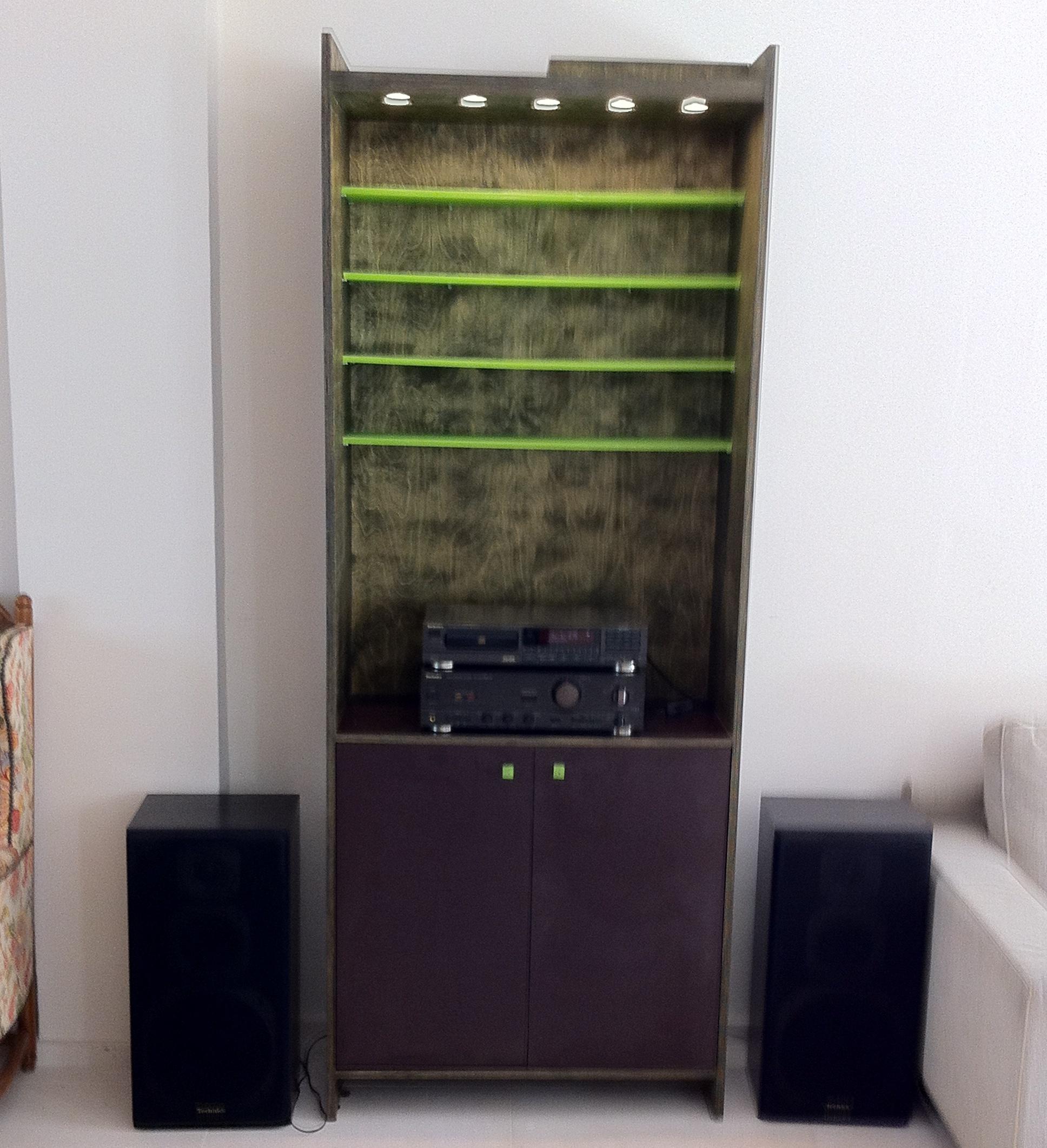 Mueble de m sica muebles refritos - Muebles para equipos de musica ...