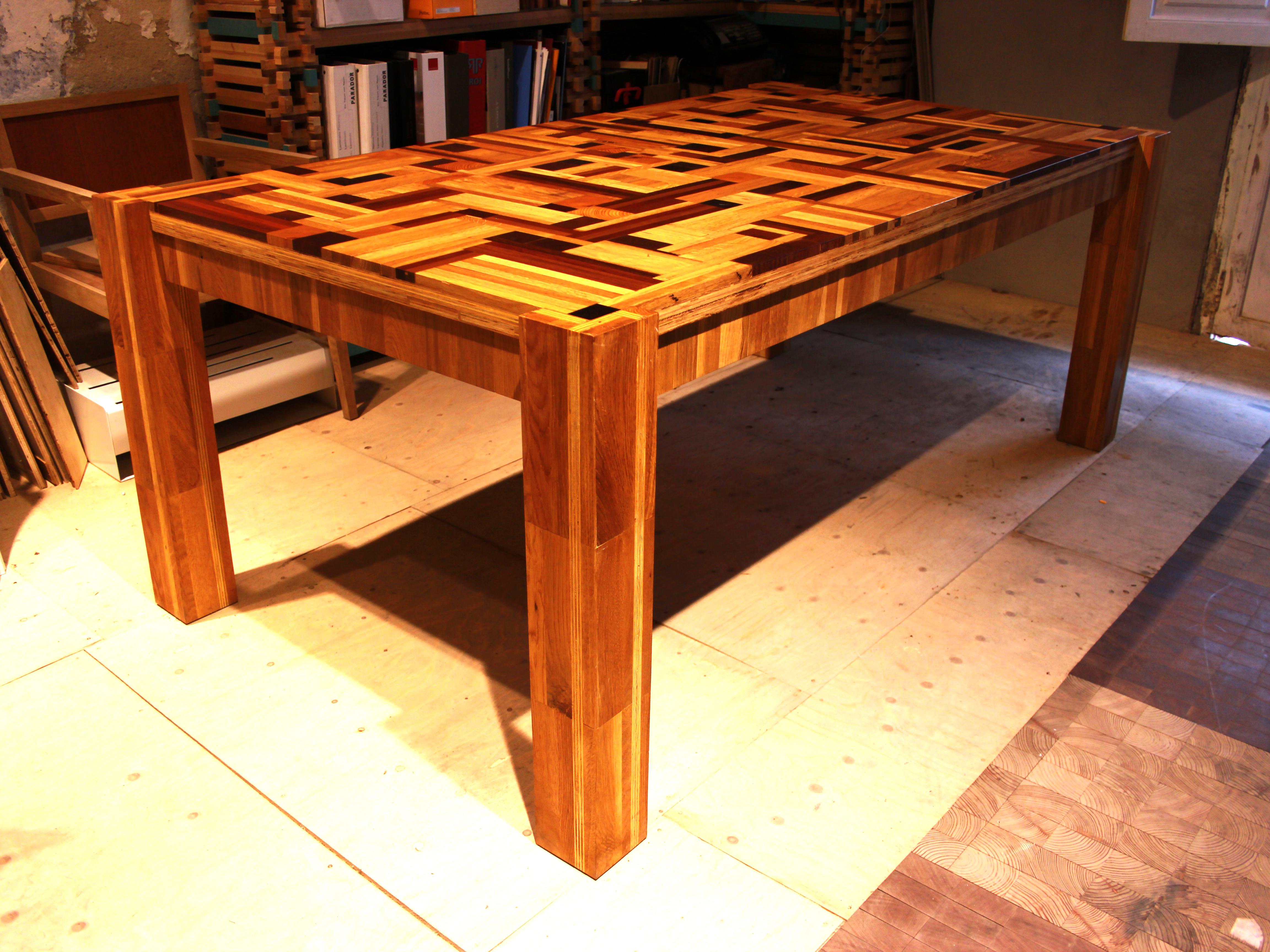 Mesa industrial muebles refritos - Mesa madera industrial ...