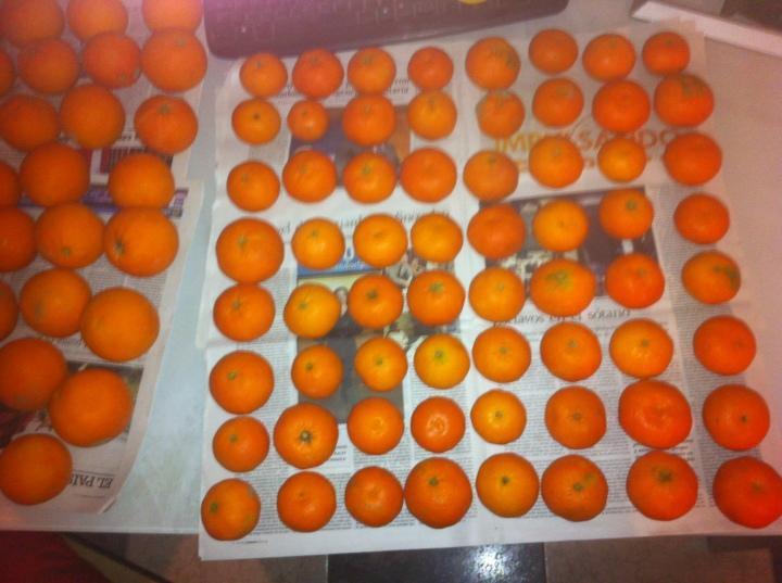 Mandarinas al cuadrado