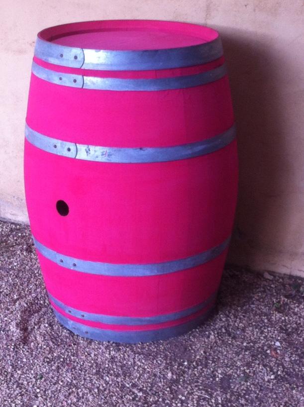 Barril pintado con Chalk Paint rosa