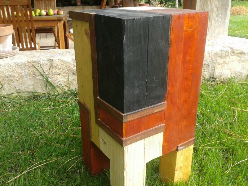 Taburete madera maciza